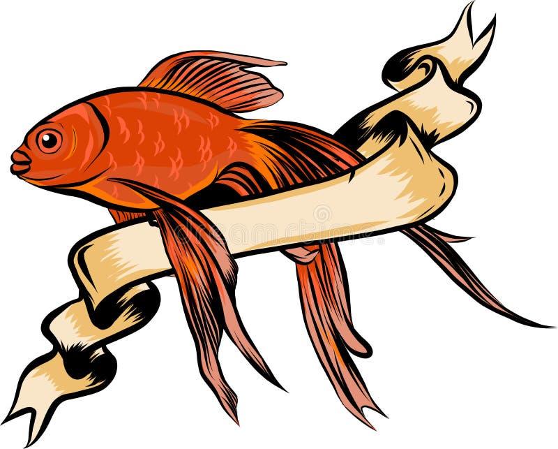 Rode Trommel, Zalm Vectorillustratie met geraffineerde details vector illustratie