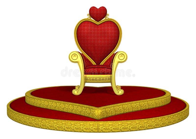Rode troon vector illustratie