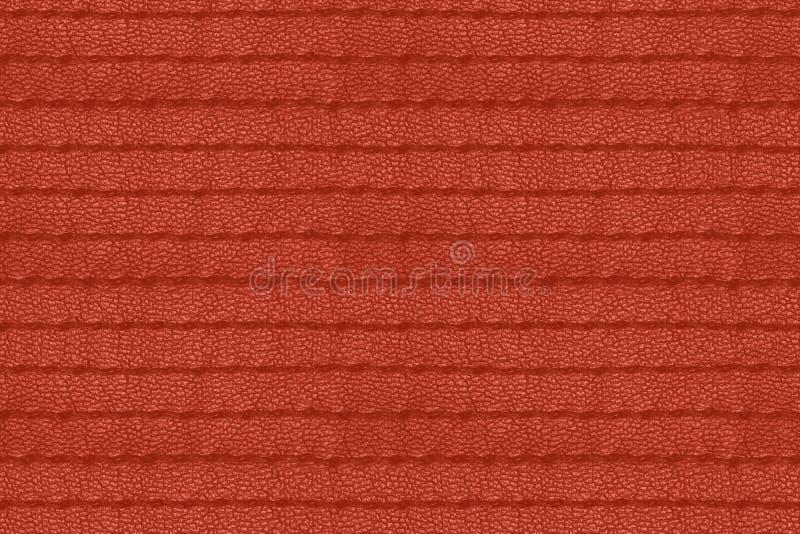 Rode uitstekende naadloze gestikte leertextuur royalty-vrije stock afbeeldingen