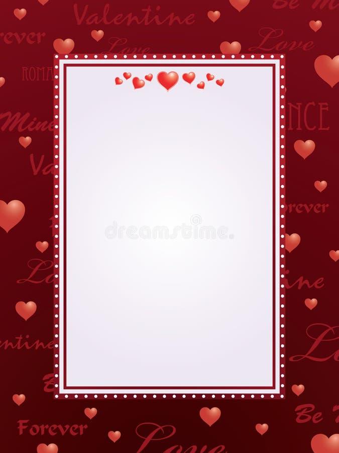 Rode valentijnskaartachtergrond vector illustratie