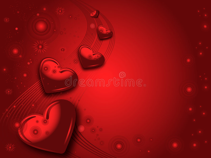 Rode valentijnskaartenkaart royalty-vrije illustratie