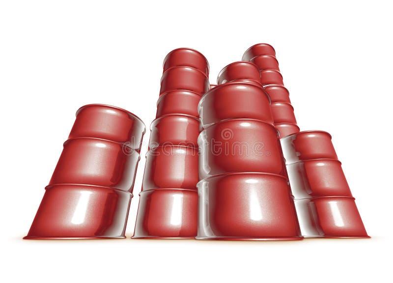 Rode vaten stock illustratie