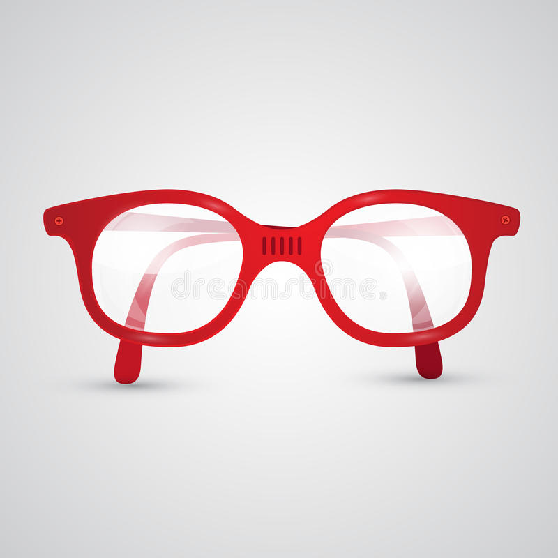 Rode Vector Retro Glazen vector illustratie