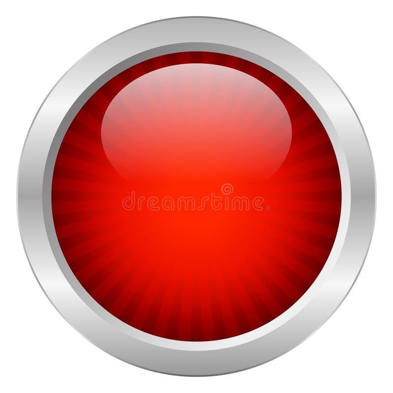 Rode vectorknoop stock illustratie