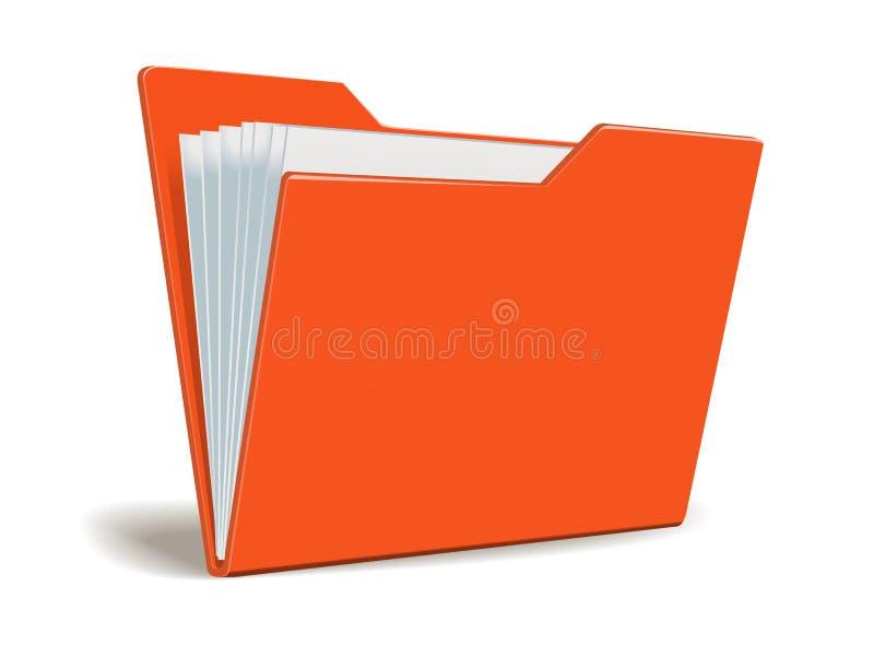 Rode Vectoromslag met documenten vector illustratie