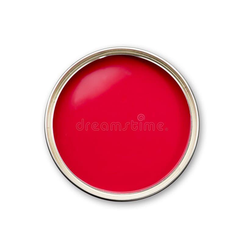 Rode verf royalty-vrije stock afbeelding
