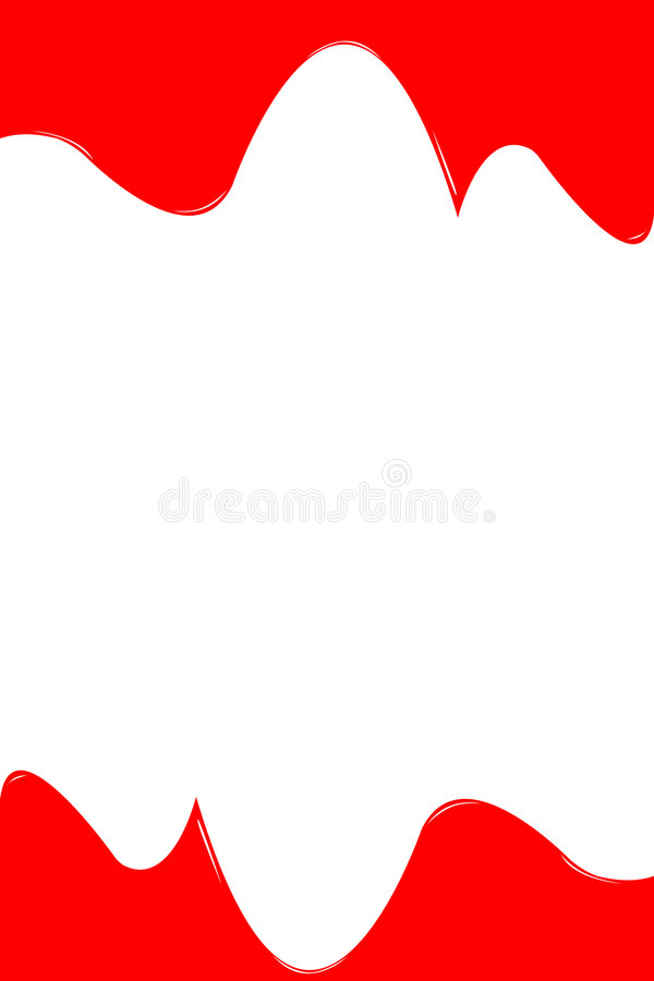 Rode verf stock illustratie