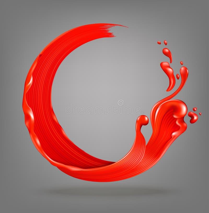 Rode verfplons royalty-vrije illustratie
