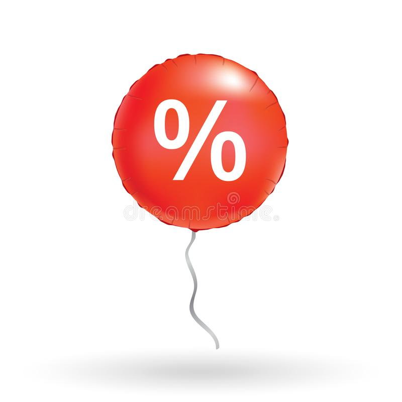Rode verkoopballons stock illustratie