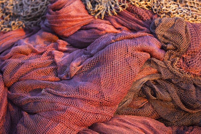 Rode visserijnetten royalty-vrije stock foto
