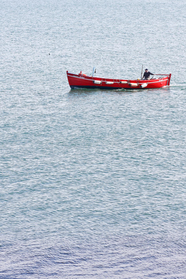 Rode Vissersboot stock foto