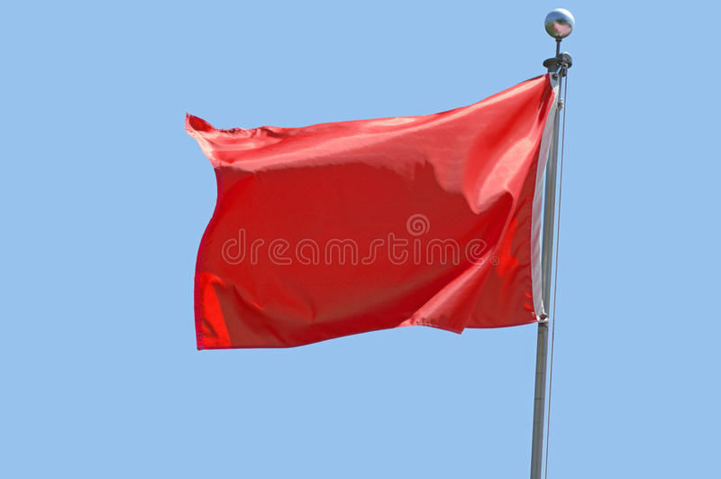 Rode Vlag stock foto
