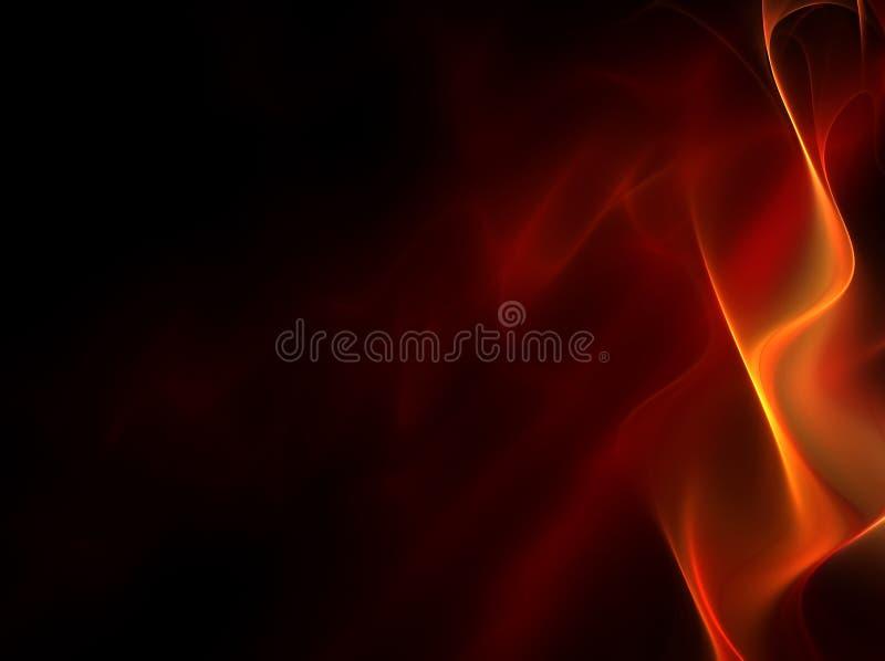 Rode vlam vector illustratie
