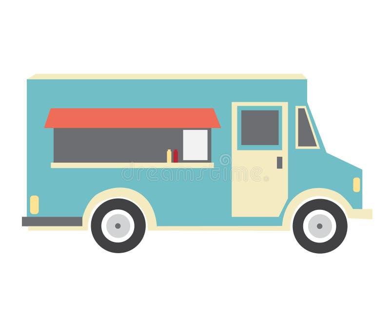 Rode voedselvrachtwagen stock afbeeldingen