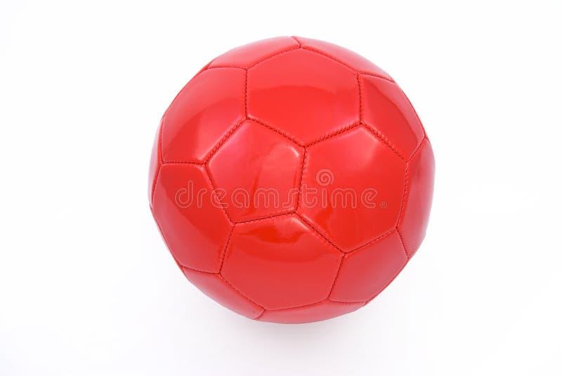 Rode voetbalbal royalty-vrije stock foto