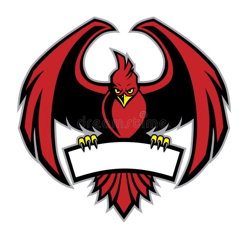 Rode vogelmascotte vector illustratie