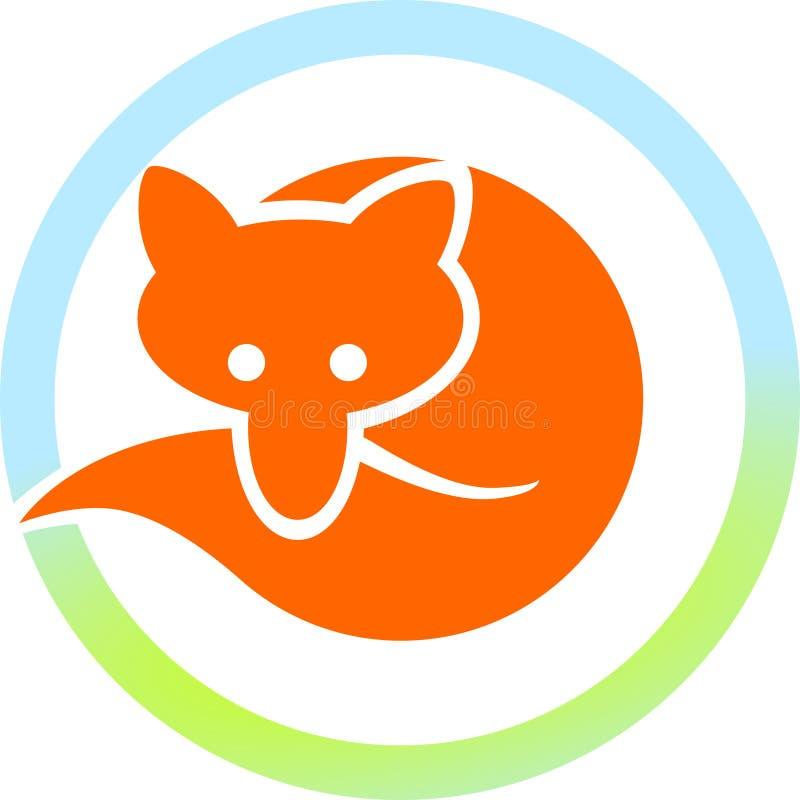 rode vos in een cirkel royalty-vrije illustratie