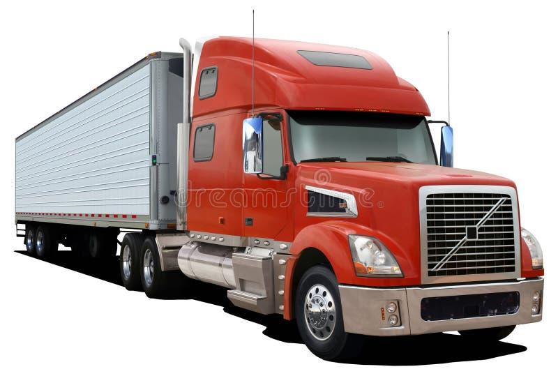 Rode vrachtwagen Volvo VT880 royalty-vrije stock afbeelding