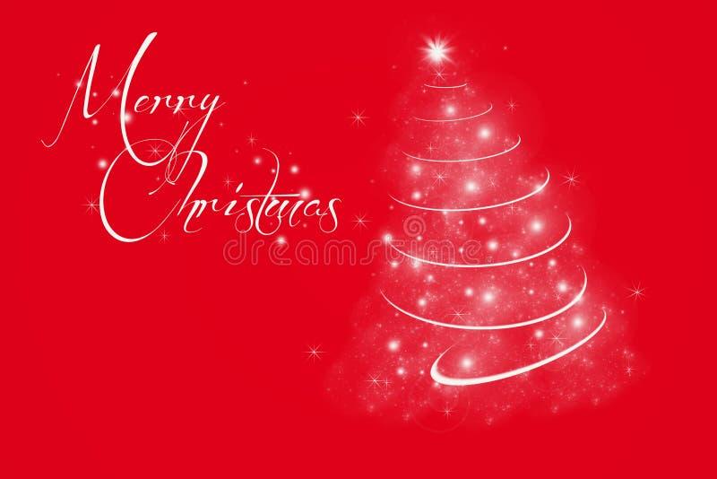 Rode vrolijke Kerstmisachtergrond vector illustratie