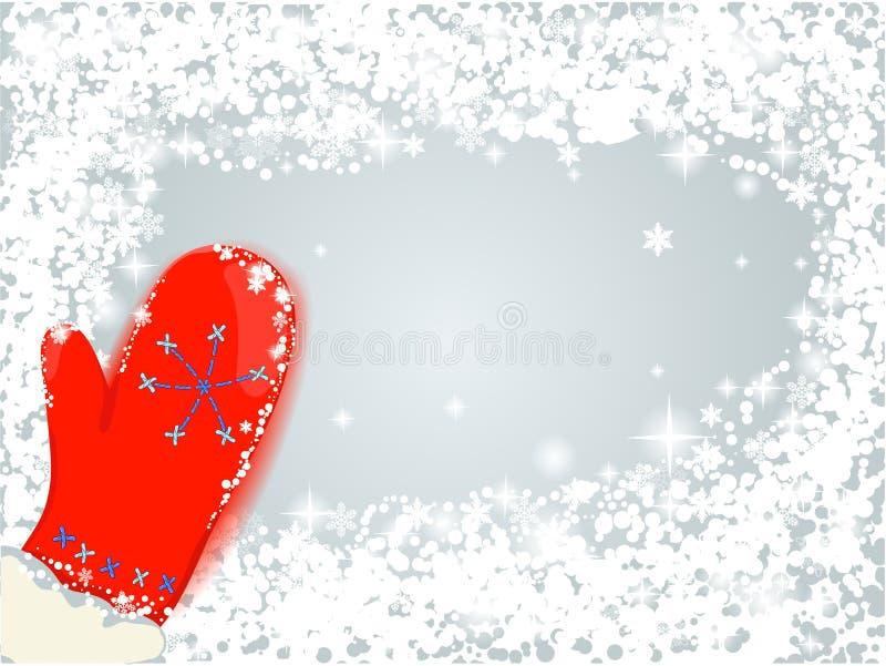 Rode vuisthandschoen stock illustratie