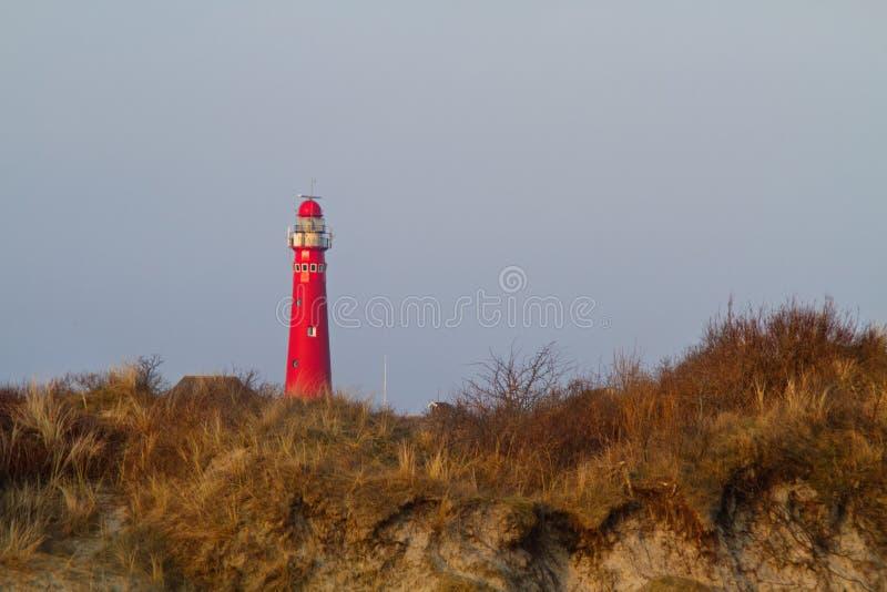 Download Rode Vuurtoren Op Het Nederlandse Eiland Schiermonnikoog Stock Afbeelding - Afbeelding bestaande uit vuurtoren, eiland: 114226327