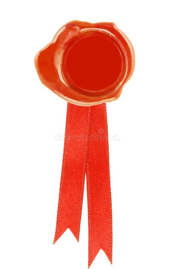 Rode wasverbinding royalty-vrije stock foto