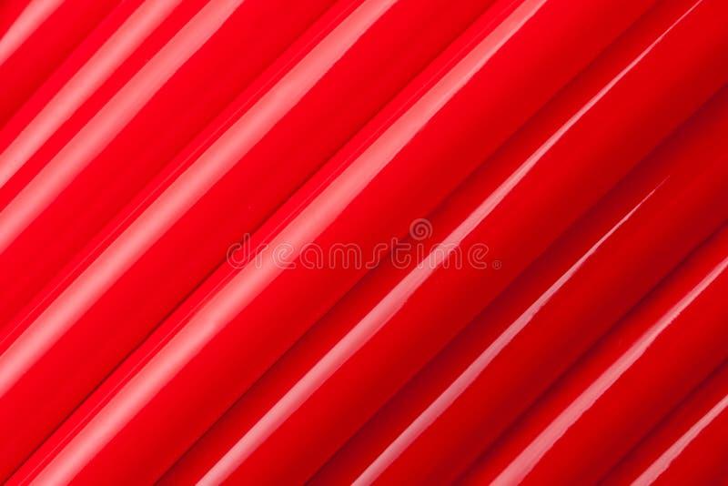 Rode waterpijpen royalty-vrije stock afbeeldingen