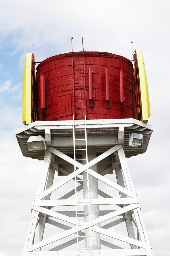 Rode watertoren royalty-vrije stock foto's