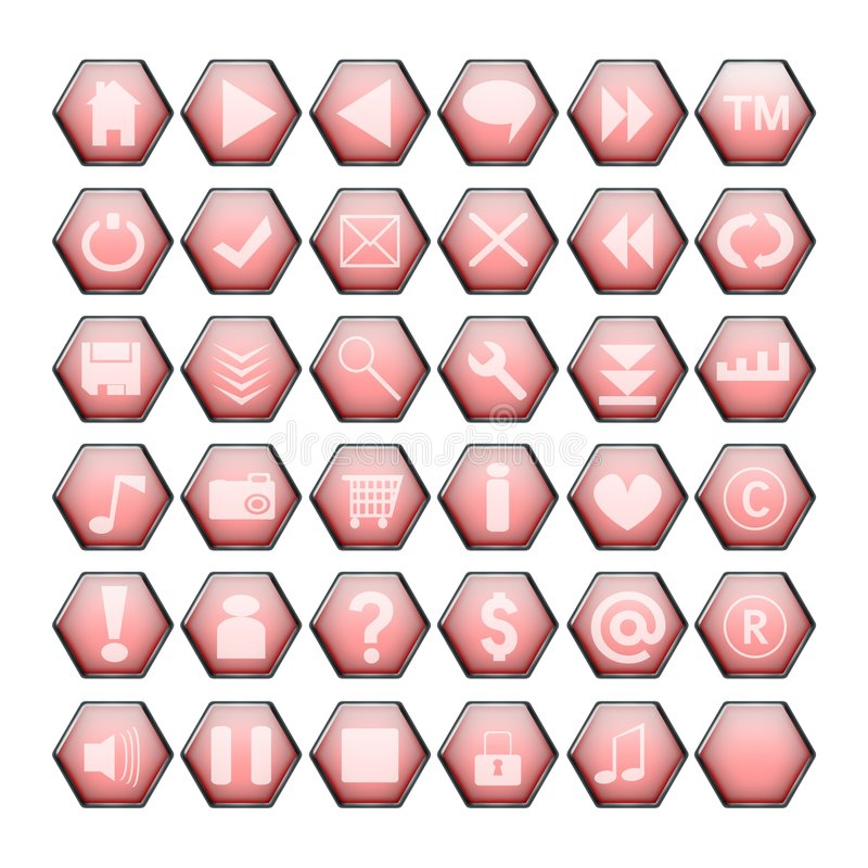 Rode Webknopen stock illustratie