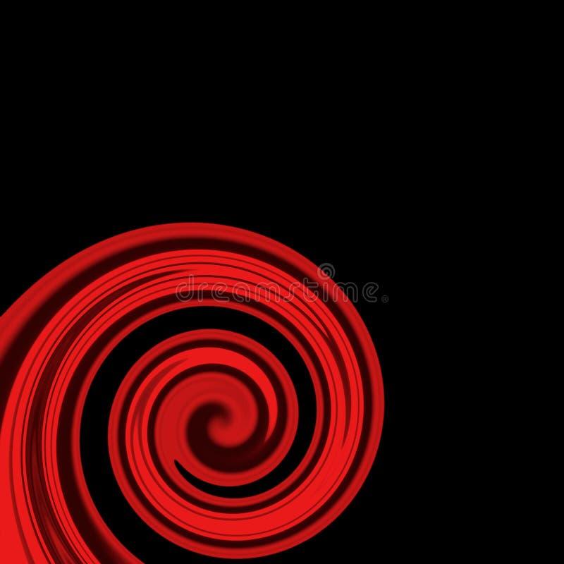 Rode wervelende lijnen stock illustratie