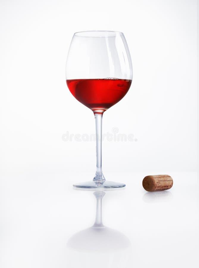 Rode Wijn en Cork stock afbeeldingen