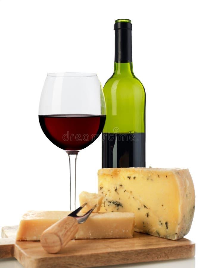 Rode wijn en kaas royalty-vrije stock fotografie
