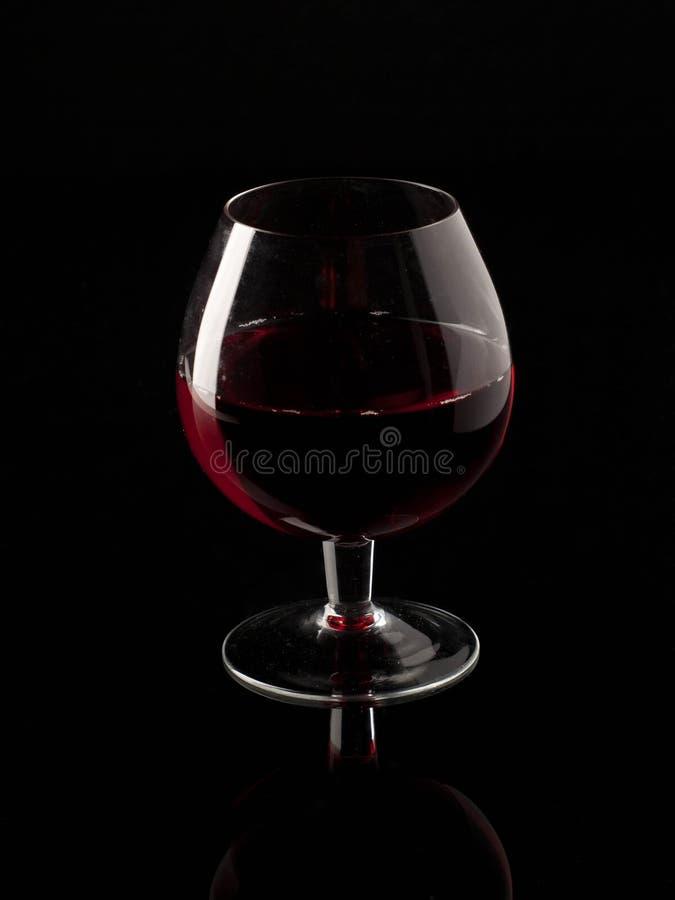 Rode wijn en wijnglas royalty-vrije stock foto