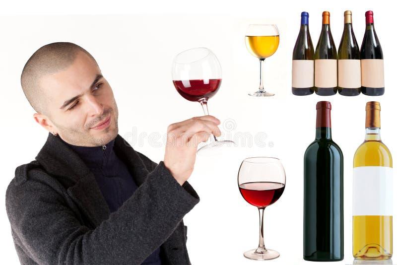 Rode wijncollage stock fotografie