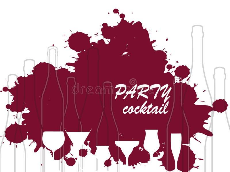 Rode wijndalingen vector illustratie