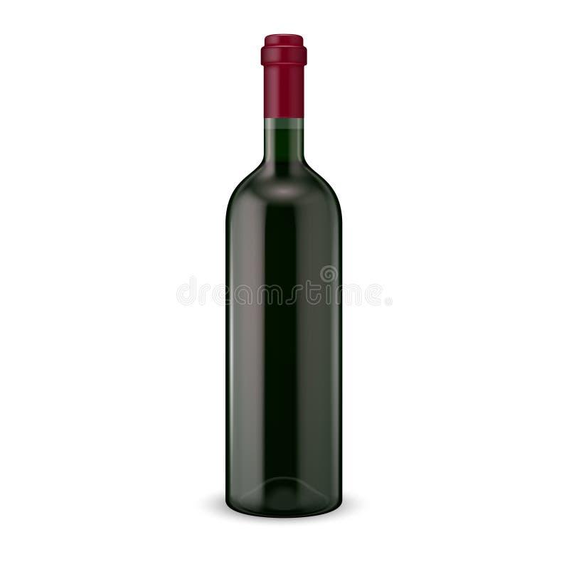 Rode wijnfles. royalty-vrije illustratie