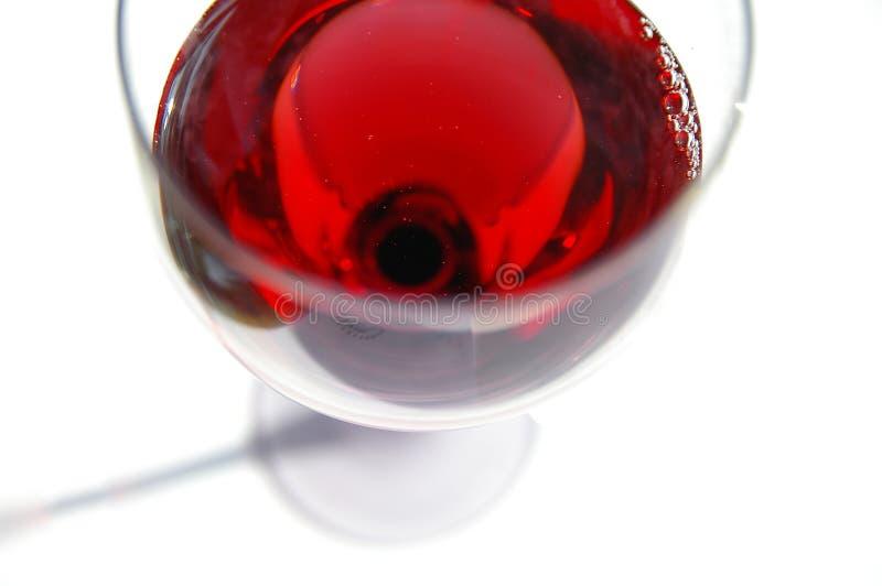 Rode wijnglas stock afbeelding