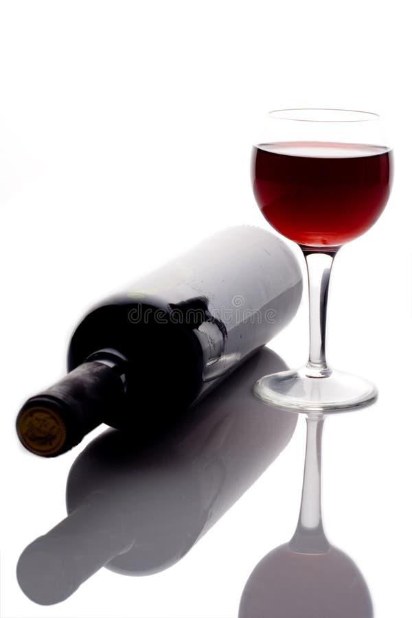 Rode wijnglas royalty-vrije stock afbeeldingen