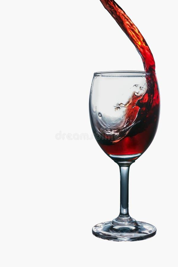 Rode wijnplons royalty-vrije stock afbeelding
