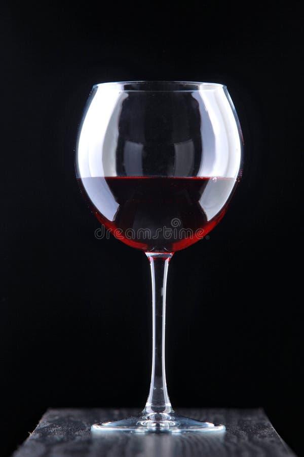 Rode wijnstok in het glas royalty-vrije stock foto