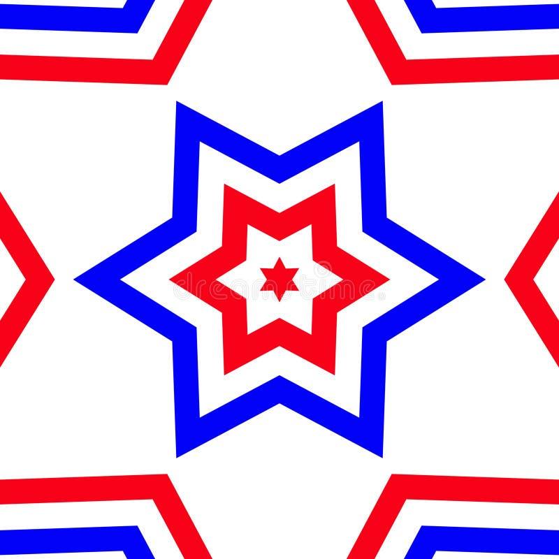 Rode, Witte, & Blauwe Ster - Amerikaanse Trots royalty-vrije illustratie