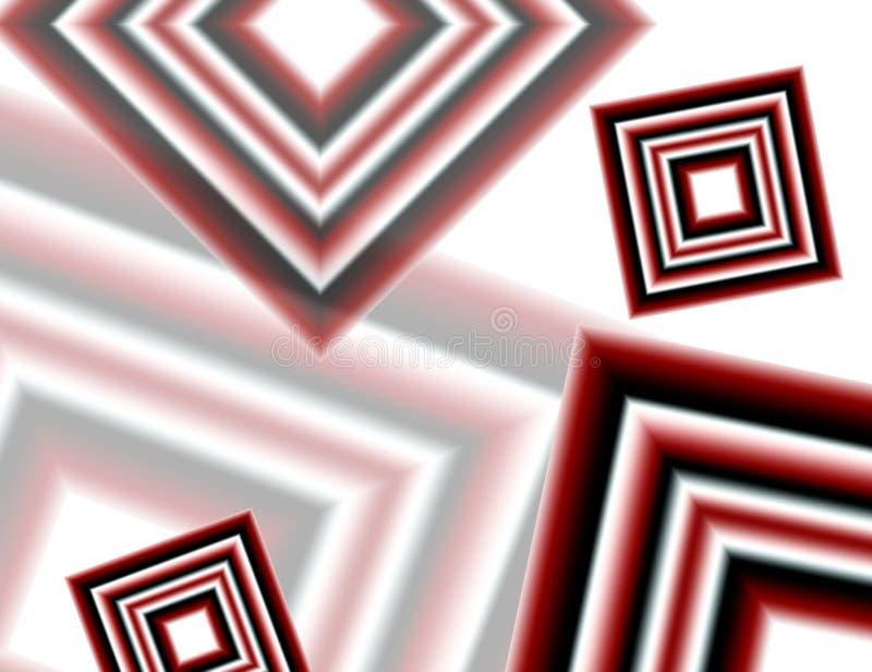 Rode witte en zwarte diamanten royalty-vrije illustratie