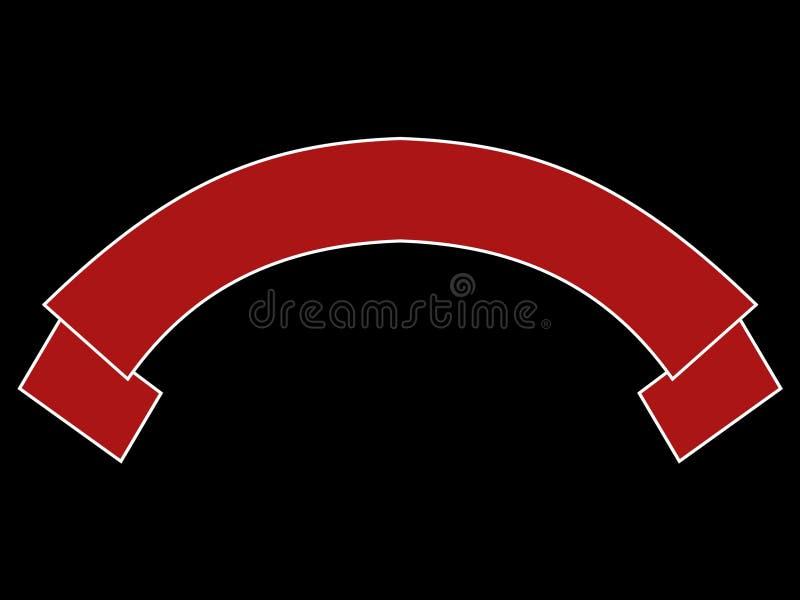 Rode witte rol vector illustratie