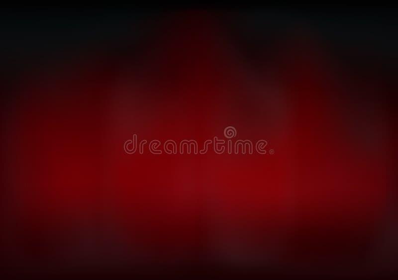 Rode wolk en rook van het samenstellingsexemplaar ruimtesamenvatting als achtergrond vector illustratie