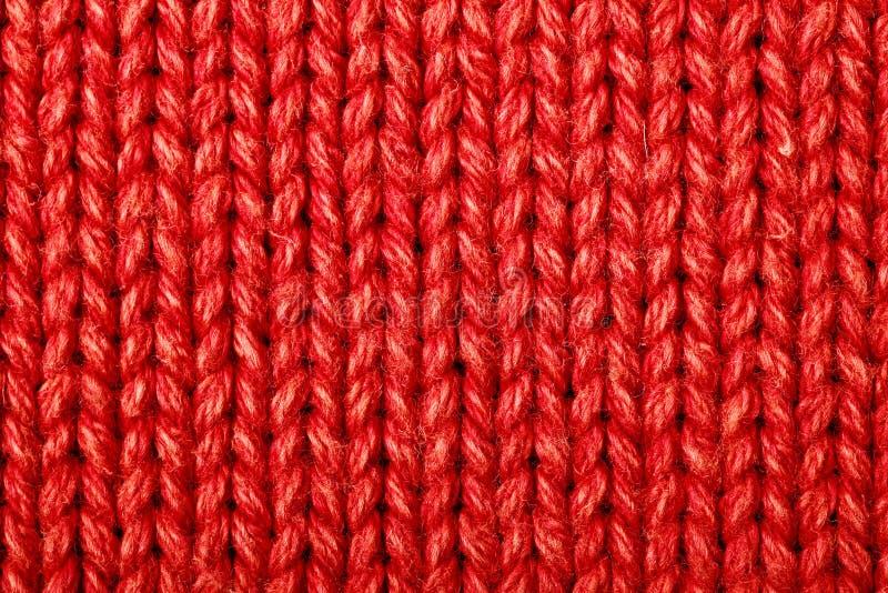 Rode wollen textuur royalty-vrije stock afbeelding