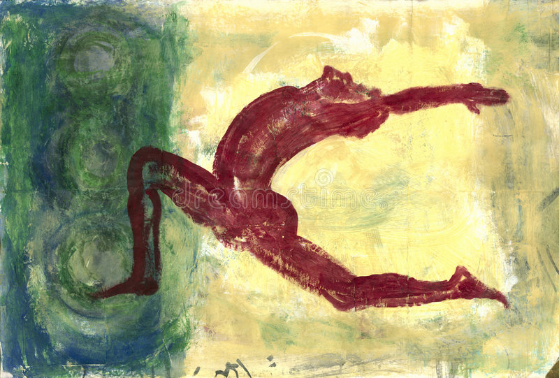 Rode Yogi royalty-vrije illustratie