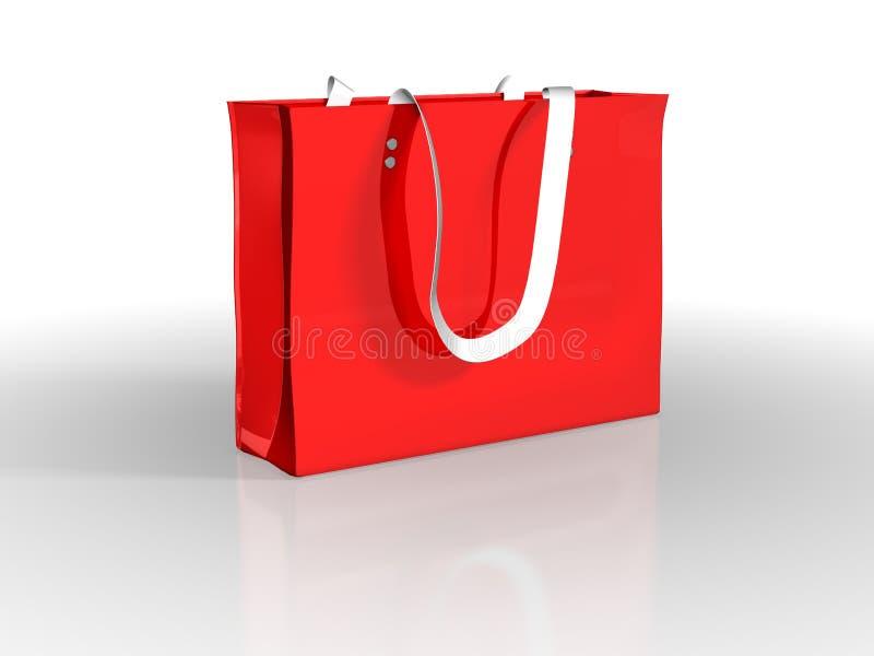 Rode zak royalty-vrije illustratie
