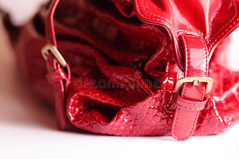 Rode zak stock fotografie