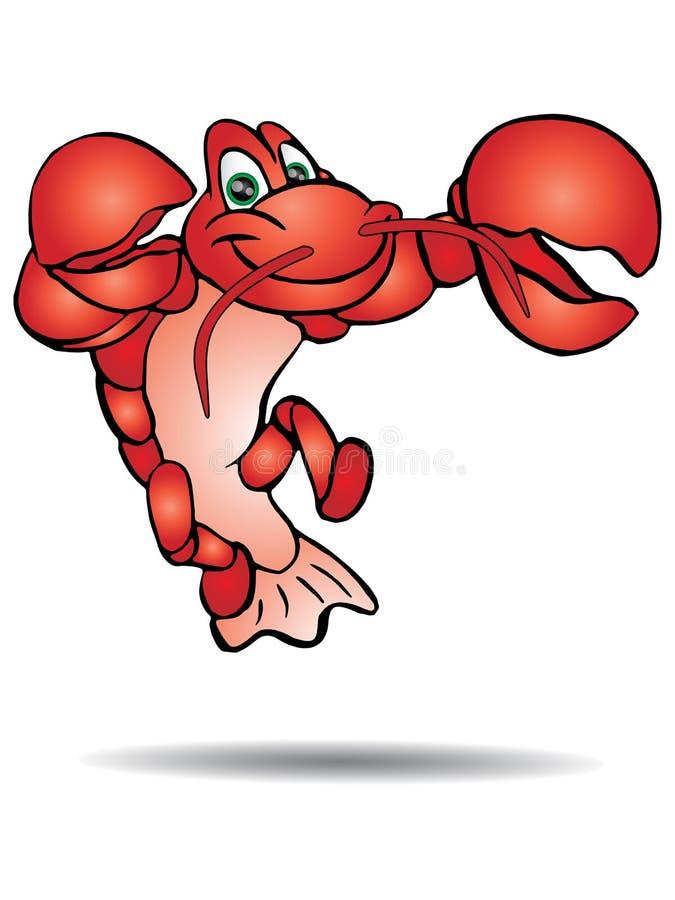 Rode Zeekreeft stock illustratie