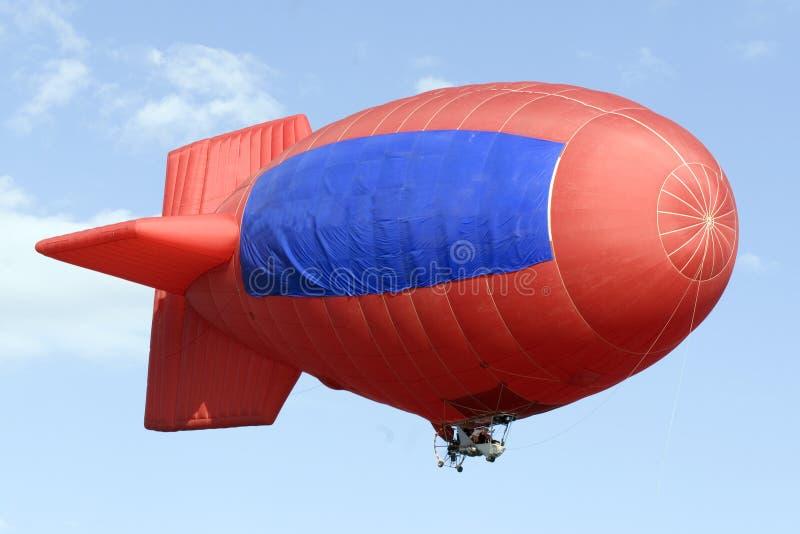 Rode Zeppelin royalty-vrije stock foto's